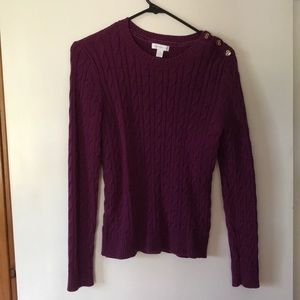 Berry colored sweater perfect for fall